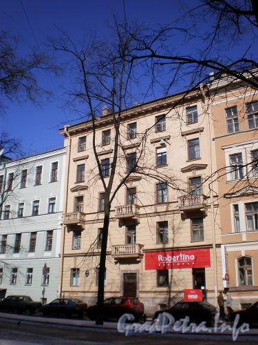Фурштатская ул., д 46. Фасад здания. Март 2009 г.