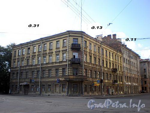 Исполкомская ул., д. 13 / Херсонская ул., д. 31. Бывший доходный дом. Общий вид здания. Фото август 2008 г.
