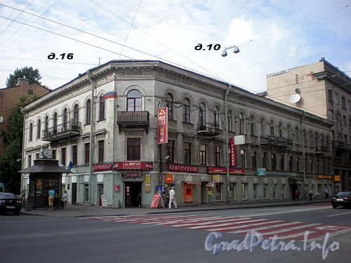 4-я Советская ул., д. 16 / Суворовский пр., д. 10.  Дом Е.Тимофеева. Общий вид здания. Фото август 2009 г.