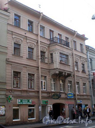 Гороховая ул., д. 35. Бывший доходный дом. Фасад здания. Фото август 2009 г.