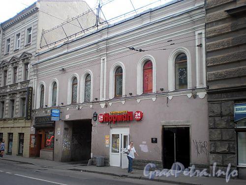 Гороховая ул., д. 49. Дом при словолитне и складах О. И. Лемана. Фасад здания. Фото июль 2009 г.