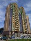 Солнечная ул. (Сосновый Бор), д. 57, кор. 1. Точечный многоэтажный Жилой дом. Общий вид здания. фото май 2017 г.