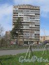 Красных Фортов ул. (Сосновый Бор), д. 10. 14-ти этажный жилой дом. Общий вид фасада. фото май 2017 г.