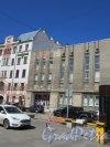 Дивенская ул., д. 4. Спортивный Комплекс «Петроградский». Часть фасада со входом. фото май 2018 г.