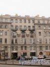 Малая Посадская улица, дом 2. Центральная часть фасада доходного дома Д. В. Быховского. Фото 3 марта 2020 г.
