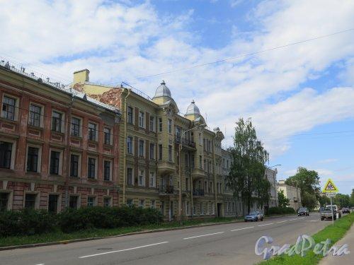 Улица Аммермана (Кронштадт). Вид нечетной стороны от ул. Лебедева (дд. 31-25). фото  июнь 2017 г.