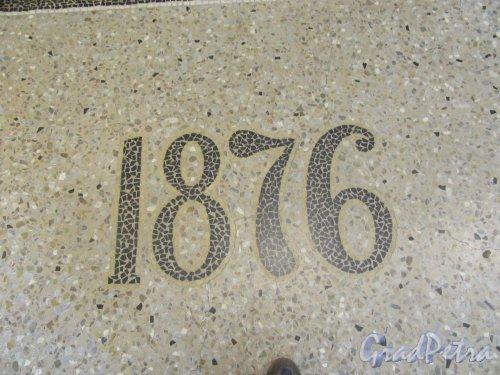 Ул. Смольного, д. 3. Александровский институт. Мозаика на лестничной площадке 1-го этажа. фото сентябрь 2017 г.