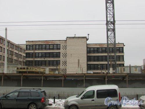 улица Александра Невского, уч. 1. Строительство гостиницы. Фото 2 марта 2019 года.