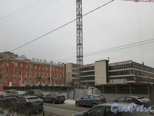 улица Александра Невского, уч. 1. Общий вид участка во время строительства гостиницы. Фото 2 марта 2019 года.