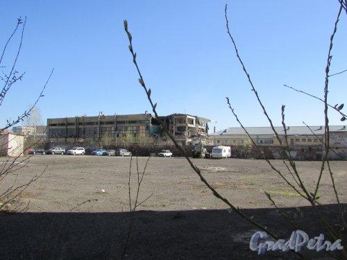 12-я Красноармейская улица, дом 26. Левая часть участка, после сноса строений. Фото 18 апреля 2019 г.