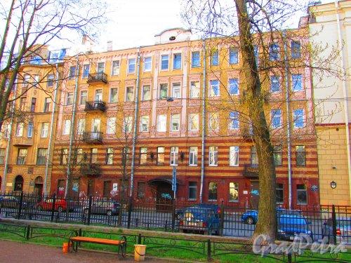 Большая Разночинная улица, дом 6. Общий вид фасада здания. Фото 1 мая 2016 года.