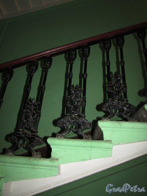 Гороховая улица, дом 79. Лестница 1. Балясины перил ограждения лестницы.Фото 17 октября 2018 года.