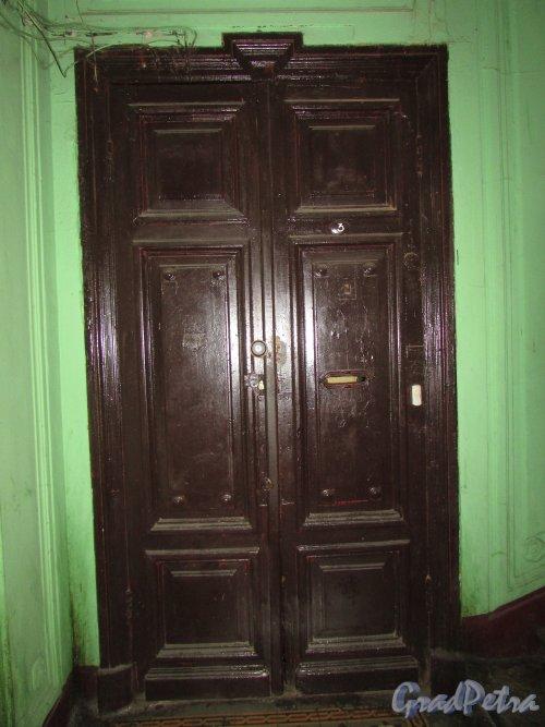 Гороховая улица, дом 79. Лестница 1. Оригинальная дверь в квартиру.Фото 17 октября 2018 года.