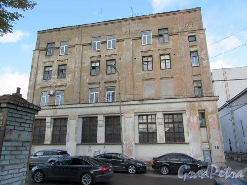 Советская ул. (Выборг), д. 2а. Бизнес-центр «Пульс». Общий вид фасада. фото октябрь 2017 г.