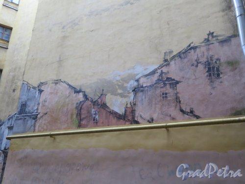Ул. Рубинштейна, д. 23. Граффити в проходном дворе. фото ноябрь 2017 г.