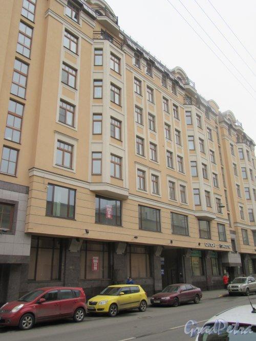 9-я Советская улица, д. 5. Элитный жилой дом «Суворовский». Центральная часть фасада. Фото Ноябрь 2017 г.