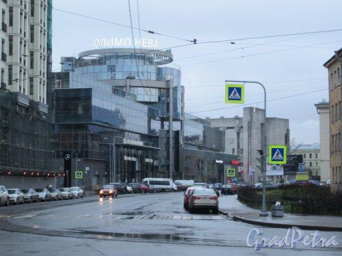 Исполкомская ул. Вид улицы с пр. Бакунина в сторону Херсонской ул. фото ноябрь 2017 г.