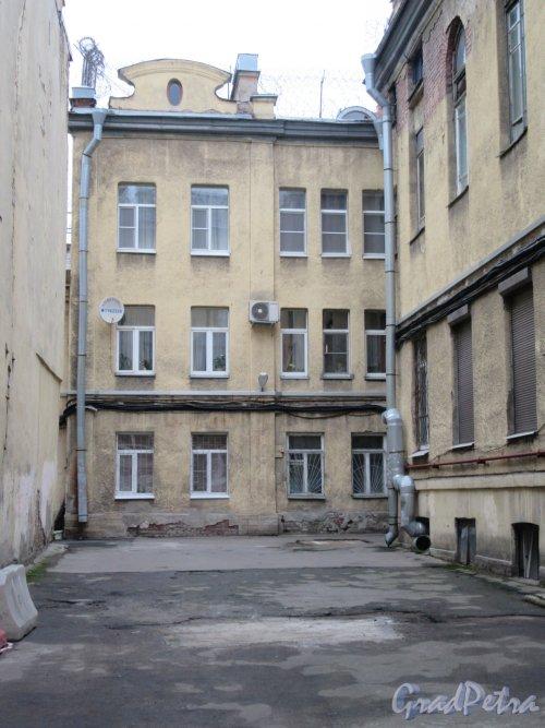 Кирочная ул., д. 40. Особняк А. Б. Нейгардта. Общий вид двора. фото ноябрь 2017 г.