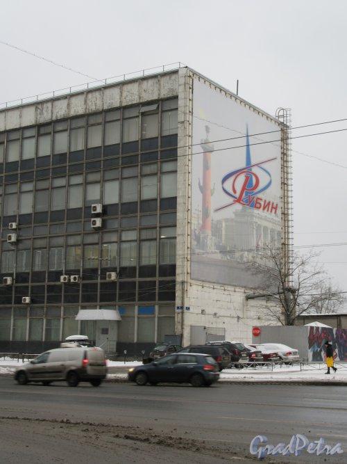 Кантемировская ул., д. 5. Здание НИИ «Рубин». Торцевой фасад. фото январь 2018 г.
