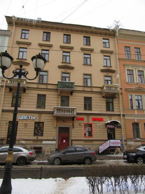 Фурштатская ул., д. 46. корп. В. Доходный дом А. В. Карпова, 1877 перестроен. (ныне Мини-отель «Вива») . Общий вид фасада. фото февраль 2018 г.