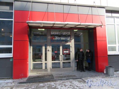 Маршала Говорова ул., д. 35, к. 5. Бизнес-центр «Терминал». Главный вход. фото март 2018 г.