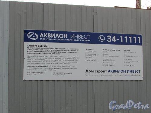 Лодейнопольская улица, дом 7. Паспорт строительства ЖК «KingDom». Фото 5 ноября 2019 года.