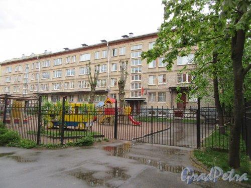 Очаковская улица, дом 2а, литера Б. Детский сад № 155 присмотра и оздоровления. Общий вид. фото май 2018 г.