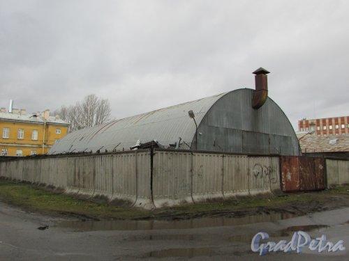 Тамбовская улица, дом 80, литера И. Общий вид ангара. Фото 17 февраля 2020 г.