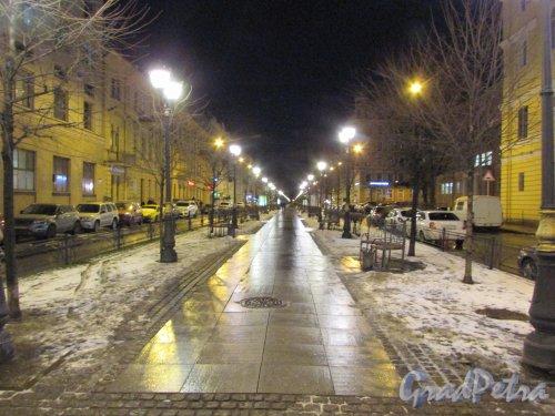 Перспектива Фурштатской улицы от проспекта Чернышевского в сторону Потёмкинской улицы. Фото 3 марта 2020 г.