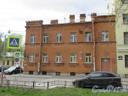 Костромская улица, дом 7. Фасад со стороны Костромской улицы. Фото 7 мая 2020 г.