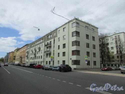 Перспектива чётной стороны Тверской улицы от Ставропольской улицы в сторону Таврической улицы. Фото 7 мая 2020 г.