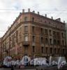 Ул. Рубинштейна, д. 29 / ул. Ломоносова, д. 28. Общий вид углового дома. Фото март 2010 г.