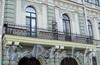 Фурштатская ул., д. 17. Решетка балкона. Фото май 2010 г.
