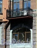Захарьевская ул., д. 16. Решетка балкона. Фото июль 2010 г.