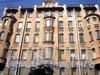 Кирочная ул., д. 6. Доходный дом И.М. Екимова. Фрагмент фасада. Фото апрель 2010 г.