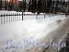 Снежная зима 2010 года в саду у госпиталя лейб-гвардии Преображенского полка. Фото февраль 2010 г.