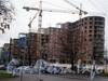 Кирочная ул., д. 64. Строительство МФК «Резиденция на Суворовском». Фото октябрь 2008 г.