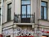 Итальянская ул., д. 16 / наб. реки Фонтанки, д. 19. Решетка углового балкона. Фото октябрь 2010 г.
