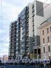 Барочная ул., д. 12.жилой комплекс бизнес-класса «Ориенталь». Фасад по Барочной улице. Фото сентябрь 2010 г.