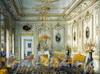 Ул. Чайковского, дом 11. Особняк  П.С. Строганова. Жёлтая гостиная. Жюль Мейблюм, акварель, 1860-ые годы.  Фото изжурнала retro_piter
