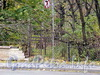 Ул. Смольного, д. 4. Фрагмент ограды вдоль улицы Смольного. Фото 23 октября 2010 г.