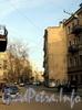 Перспектива улицы Блохина от Любанского переулка в сторону Мытнинской площади. Фото апрель 2011 г.