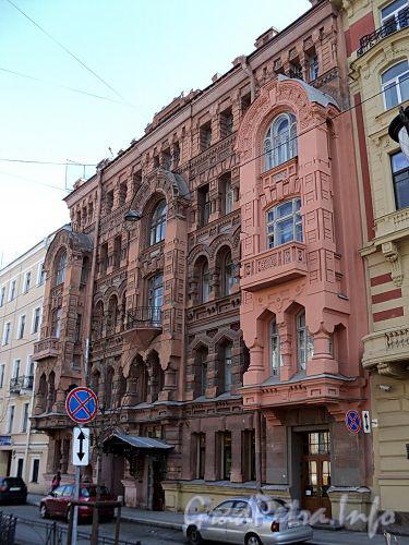 Фурштатская ул., д. 11. Доходный дом 3.М. и А.А. Зайцевых. Фасад здания. Фото май 2010 г.