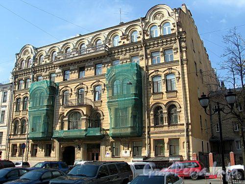 Фурштатская ул., д. 20. Доходный дом Н.Н. Зайцевой. Общий вид здания. Фото май 2010 г.