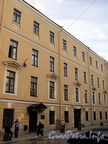 Галерная ул., д. 7. Фасад здания. Фото июнь 2010 г.