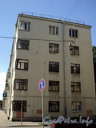 Тверская ул., д. 16. Торцевой фасад лицевого корпуса. Вид со Ставропольской улицы. Фото август 2010 г.