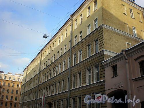 Одесская ул., д. 3 / Тверская ул., д. 23. Фасад по Одесской улице. Фото февраль 2009 г.