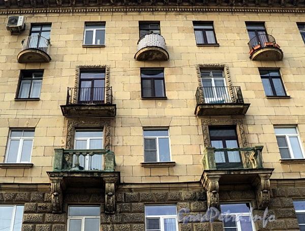 Ул. Блохина, д. 23. Фрагмент фасада. Фото апрель 2011 г.