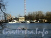 Ул. Академика Павлова, д. 11. Территория базы водно-моторного спорта. Вид с Каменного острова. Фото апрель 2011 г.