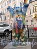 Арт-объект «Мишка Бадди» на бульваре Фурштатской улицы, перед зданием Генерального консульства Германии. Фото октябрь 2011 г.